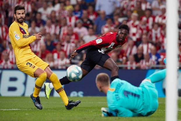 شکست بارسلونا برابر اتلتیکوبیلبائو