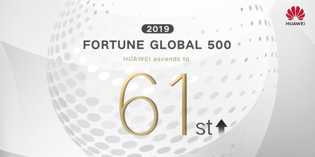 جهش 11 پلهایی هواوی در لیست Fortune 500 امسال