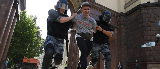 ترور شهر مسکو در تظاهرات/ بازداشت هزاران نفر در یک اعتراض خیابانی