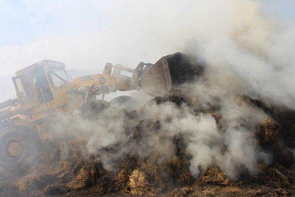 آتش سوزی یک گاوداری در آذربایجان شرقی