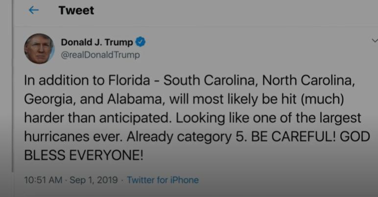ترامپ: توفان از آلاباما می گذرد/ هواشناسی آمریکا: رد میکنیم