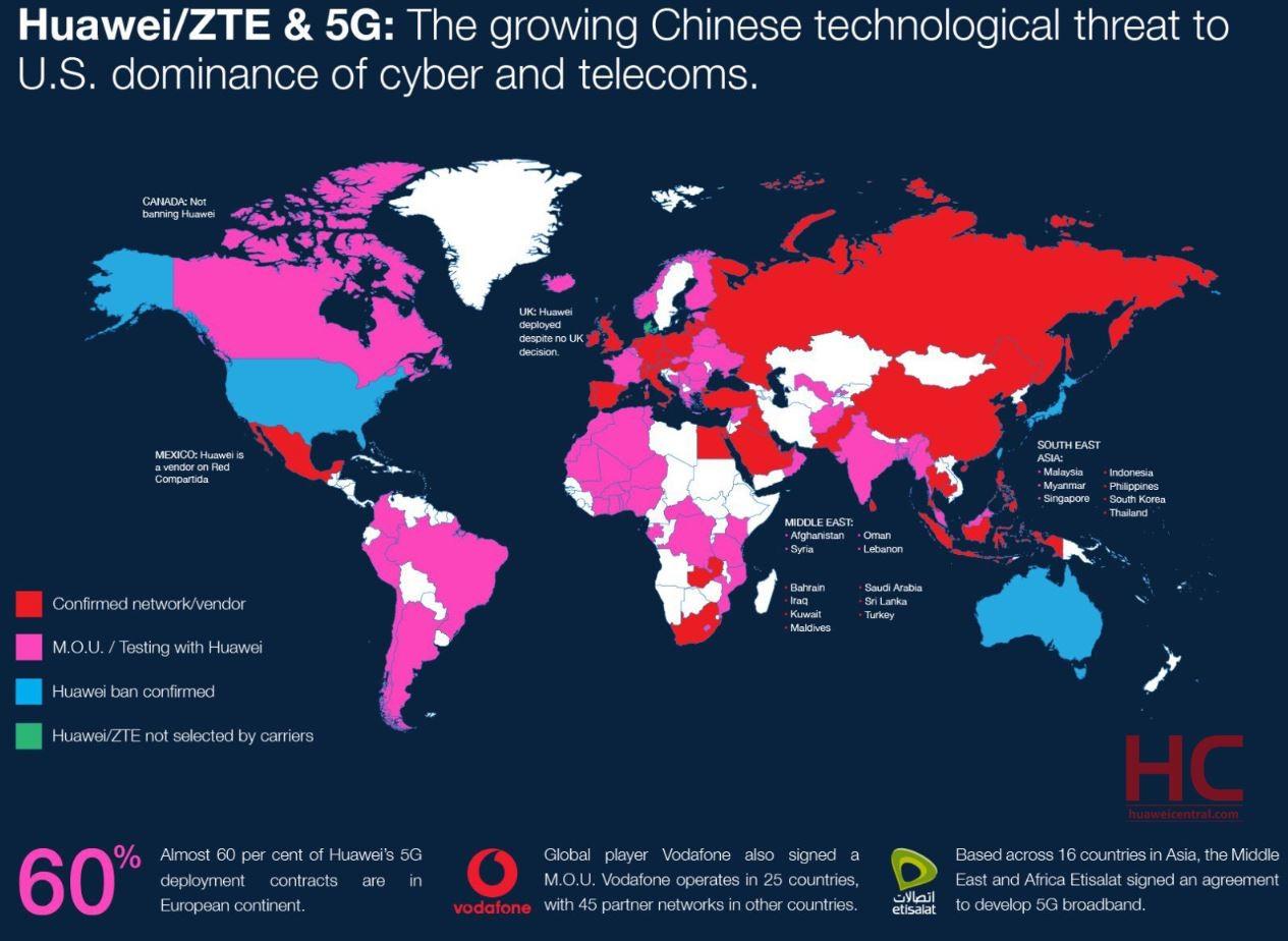 کدام کشورها هوآوی را برای ساخت 5G خود انتخاب کردهاند