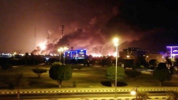 حملات پهپادی به تاسیسات نفتی سعودی