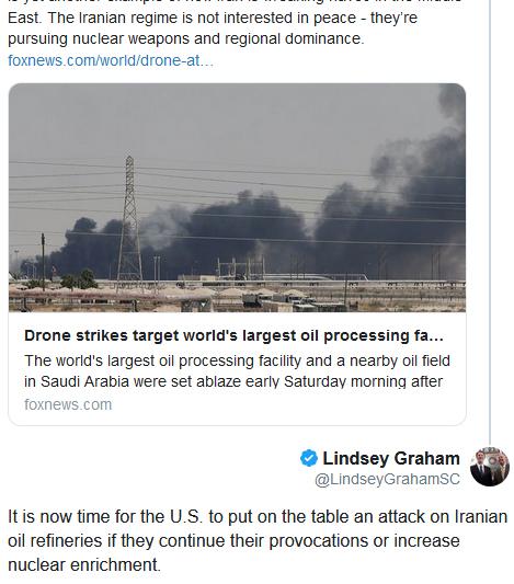 کاهش 5 میلیون بشکهای ظرفیت تولید نفت سعودی/ ادعای پمپئو: ایران عامل حمله به تاسیسات نفتی سعودی است/ سناتور آمریکایی: باید گزینه حمله به پالایشگاههای ایران را روی میز بگذاریم