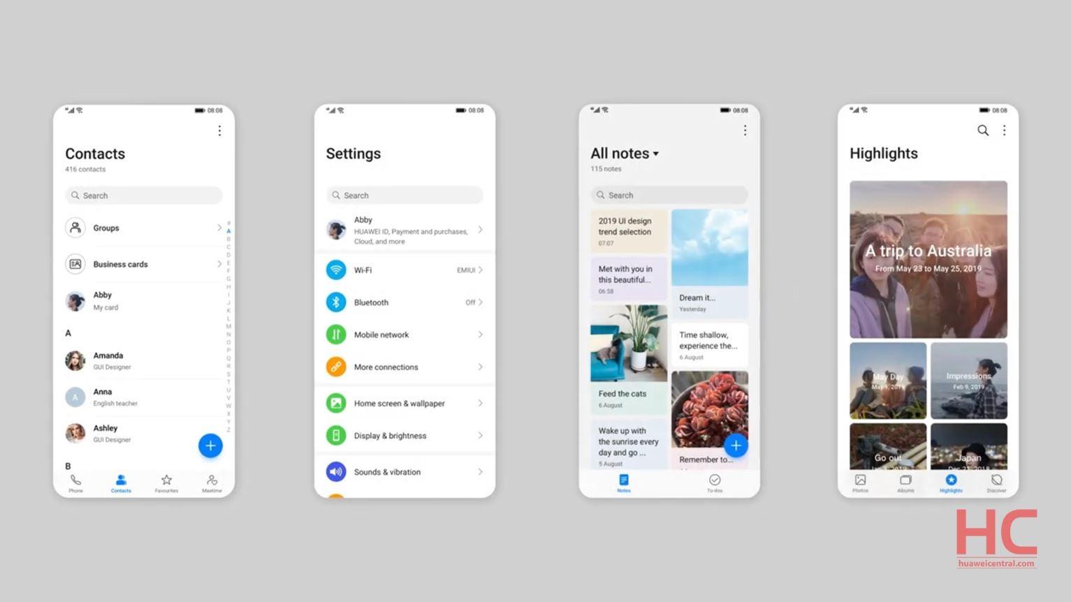 زیبایی و کارایی بیشتر حاصل تغییرات جدید در رابط کاربری جدید هوآوی