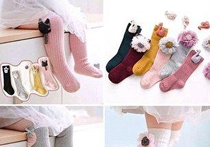 جدیدترین مدل جوراب های ساق بلند بچگانه (عکس)