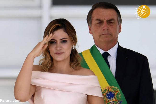 انتقاد ماکرون از رئیسجمهور برزیل به خاطر مسخرهکردن همسرش