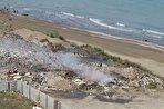 فاجعه در محمودآباد مازندران: دپوی زباله در 20 متری ساحل/ ورود شیرابههای سمی به دریای خزر (فیلم)