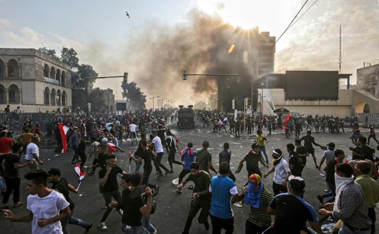 2 کشته و 200 مصدوم در تجمع اعتراضی مرکز بغداد