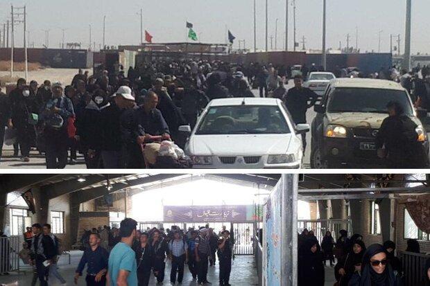 خروج 40 هزار زائر اربعین طی امروز از مرز مهران