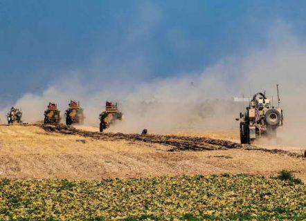 آرایش جنگی گرفتن نیروهای ترکیه و کُردهای سوریه