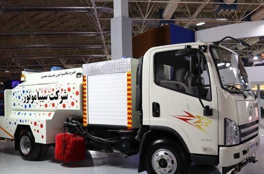 نمایش کامیونت جدید بهمن دیزل در نمایشگاه حمل و نقل