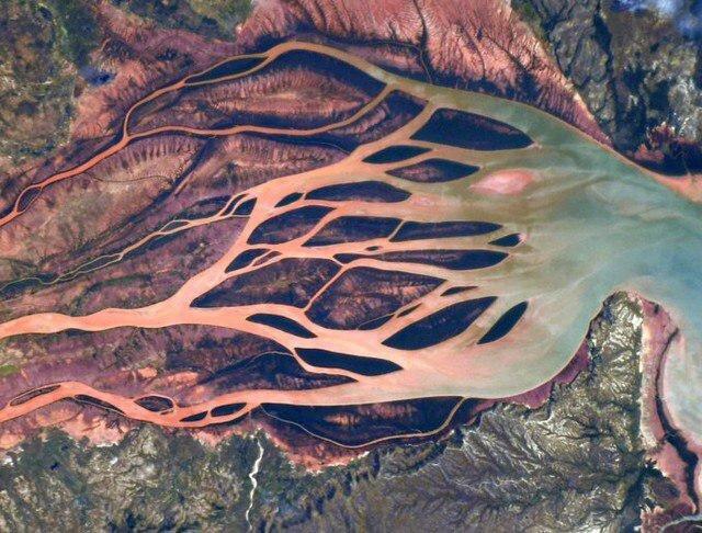 تصویر رودخانه خونین از ایستگاه فضایی (+عکس)