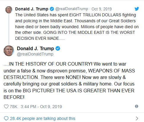 استراتژی ریاکارانه ترامپ: خالی کردن پشت کردها و اعزام نیروها به عربستان سعودی