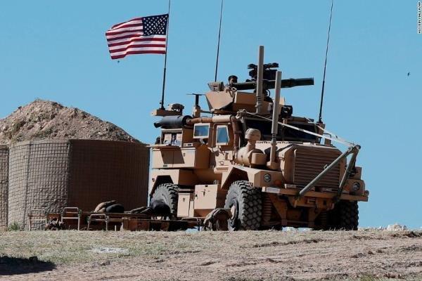 خروج نظامیان آمریکایی از پایگاه «تل بیدر» در سوریه