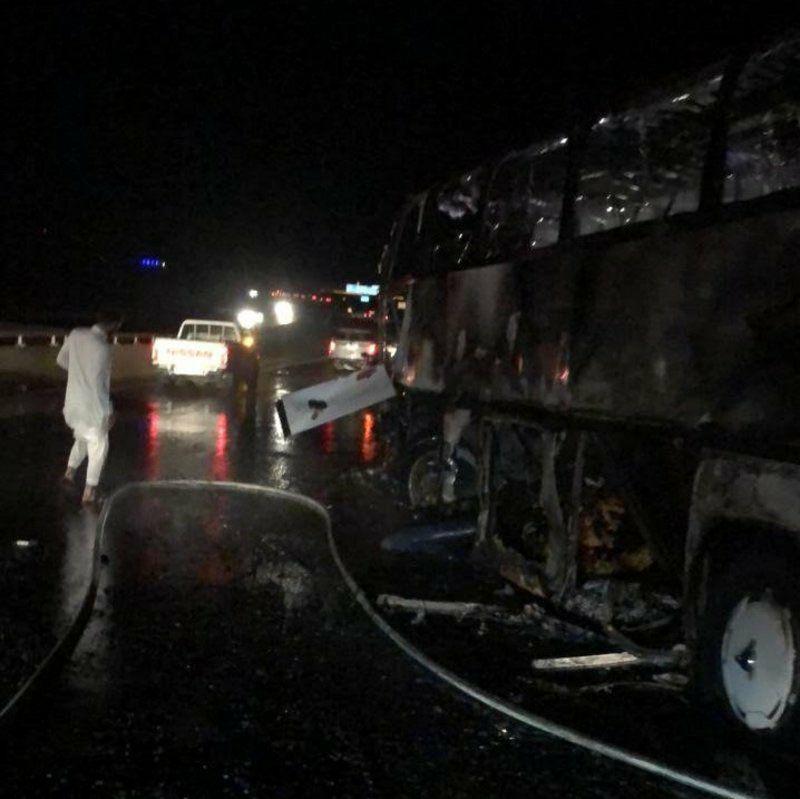 ۳۵ کشته و ۴ زخمی در تصادف رانندگی در مدینه