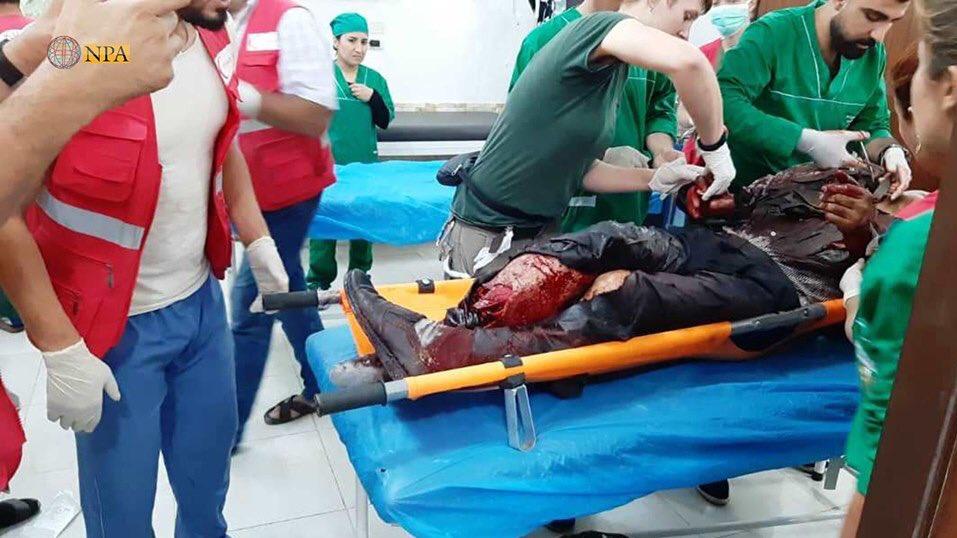 المیادین| ۱۳ کشته و ۷۰ زخمی در حمله ترکیه به کاروان غیرنظامیان سوری (+ عکس)