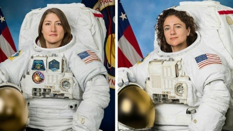 اولین پیادهروی فضایی کاملا زنانه 2 دو فضانورد آمریکایی