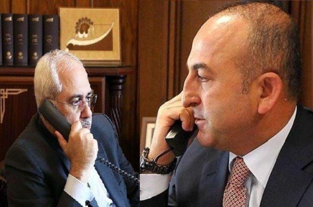 گفتگوی تلفنی ظریف با «چاوش اوغلو» درباره تحولات شمال سوریه