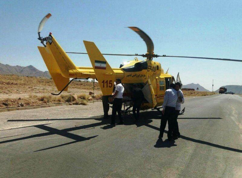 نجات جان کودک 5 ساله توسط اورژانس هوایی یزد