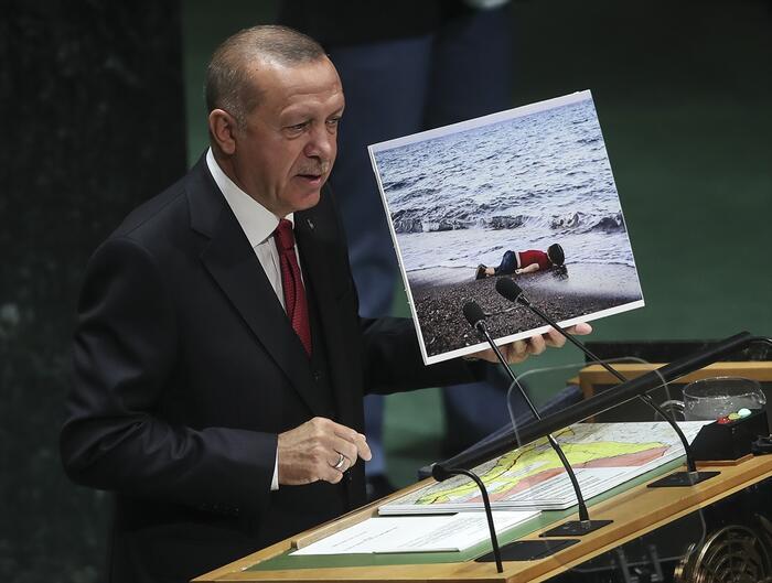 دست پُر اردوغان در نطق سازمان ملل (+عکس)