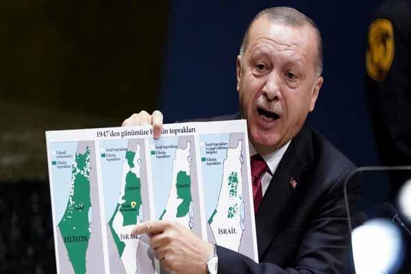 استقبال اسماعیل هنیه از نمایش نقشه تاریخی فلسطین از سوی اردوغان