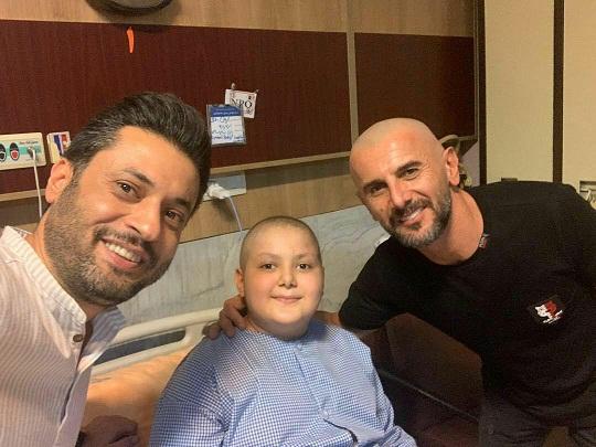 امین حیایی، آرزوی کودک سرطانی را برآورده کرد