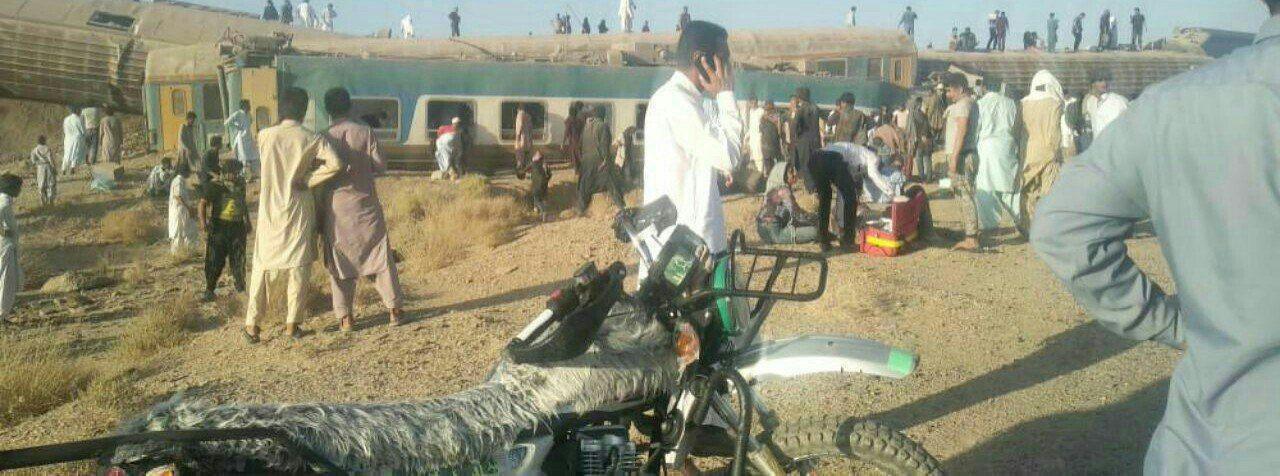 40 زخمی در حادثه برای قطار سیستان و بلوچستان