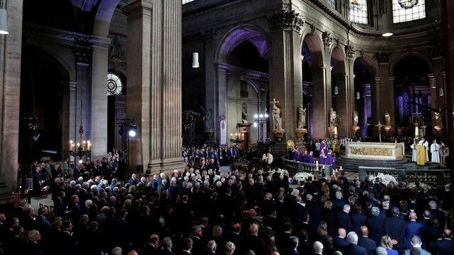 حضور سفیر ایران در مراسم خاکسپاری ژاک شیراک