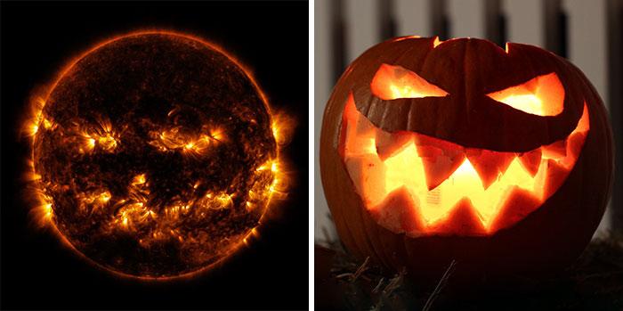 خورشید هم هالووین را جشن میگیرد! (+عکس)