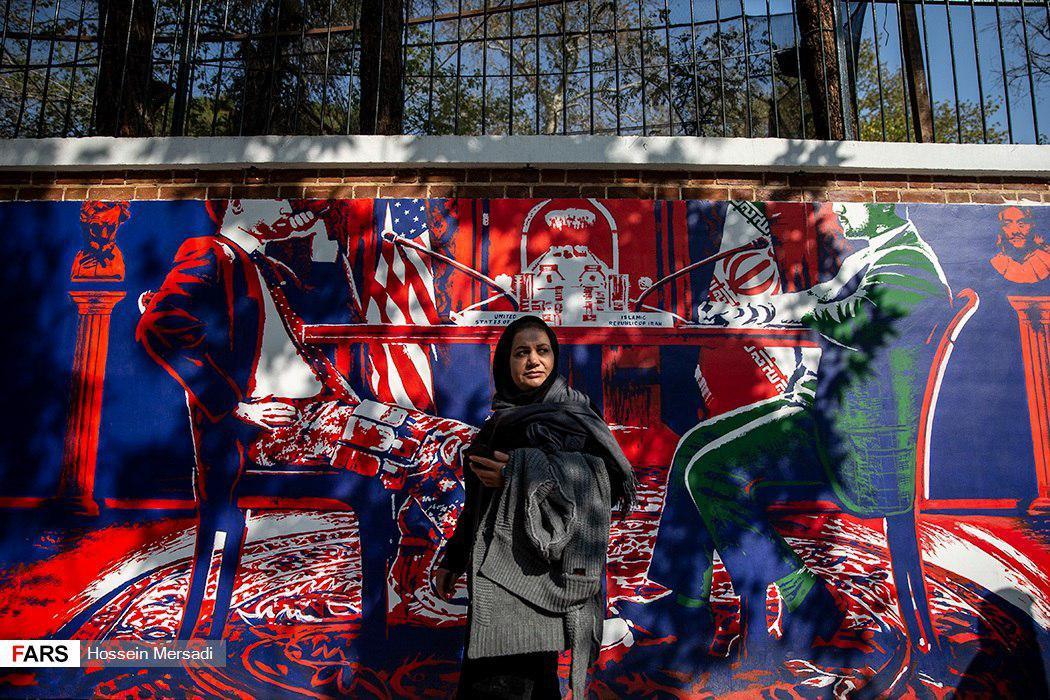 رونمایی از دیوارنگارههای سفارت سابق آمریکا (+عکس)