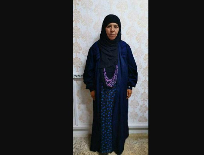 عکس خواهر ابوبکر البغدادی بعد از دستگیری توسط ترکیه