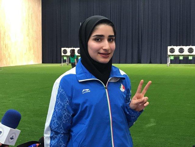 کسب سهمیه المپیک 2020 توسط هانیه رستمیان در تیراندازی