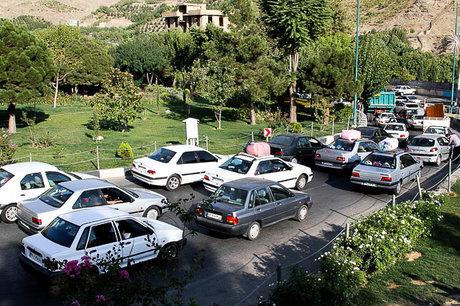 ترافیک نیمه سنگین در جاده کرج- چالوس