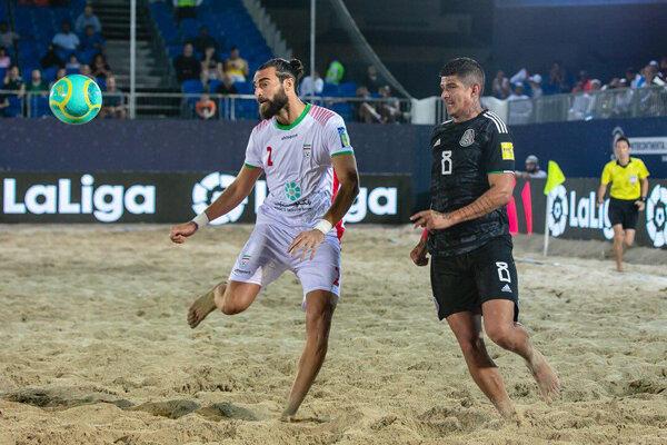 پیروزی تیم ملی فوتبال ساحلی ایران برابر مصر