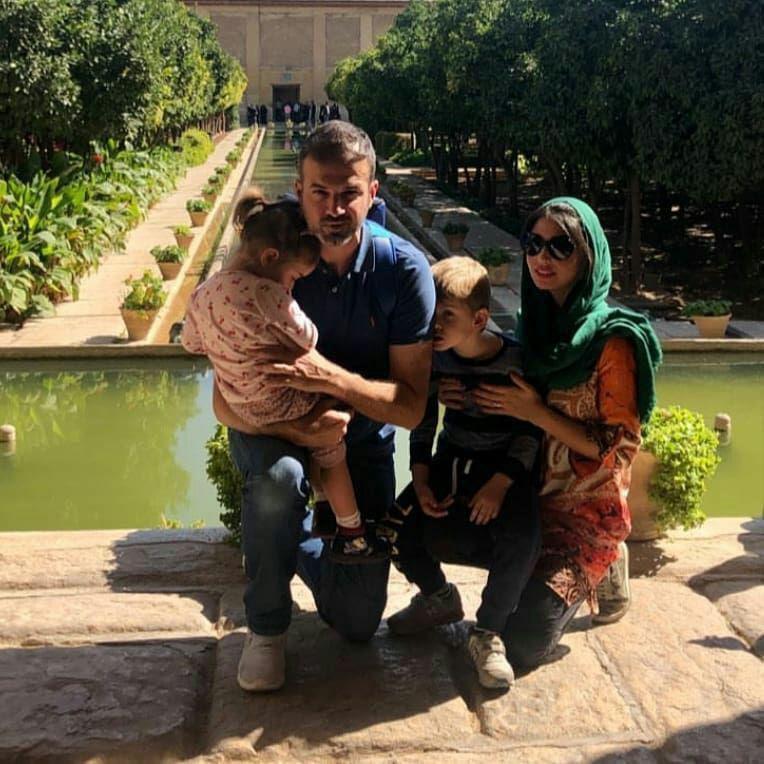 استراماچونی و خانواده در ارگ کریم خان شیراز + (عکس)