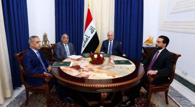 مخالفت رهبران سه گانه عراق با حل امنیتی تظاهرات و تاکید بر آغاز مقدمات اصلاح قانون انتخابات