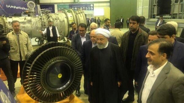 افتتاح کارخانه توربین سازی غدیر یزد با حضور رئیس جمهور