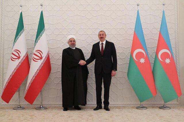 دیدار روسای جمهور ایران و آذربایجان