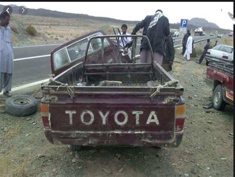 ۲۸ کشته و 21 مجروح در برخورد دو وانت حامل اتباع افغان در سیستان و بلوچستان