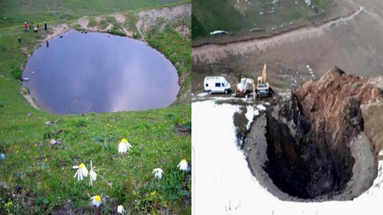 نابودی دریایچه 12 هزار ساله به دلیل حفاری جویندگان گنج در ترکیه (+عکس)