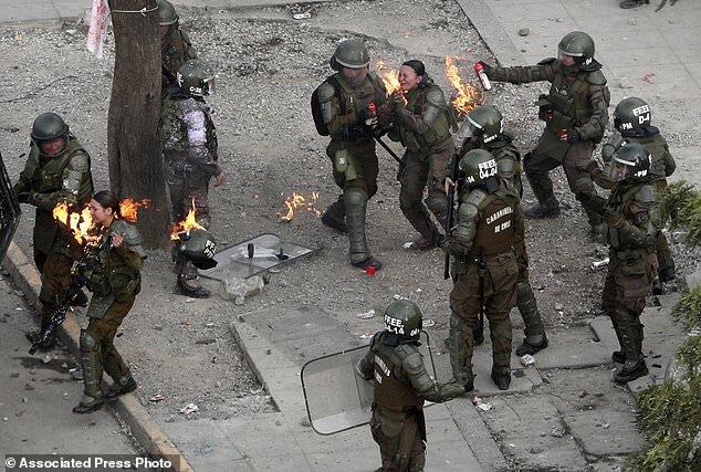 رئیس جمهوری شیلی: محکومیت خشونت پلیس علیه معترضین
