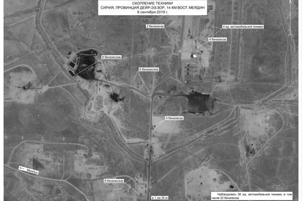 تصاویر ماهوارهای از قاچاق نفت سوریه تحت حفاظت آمریکا