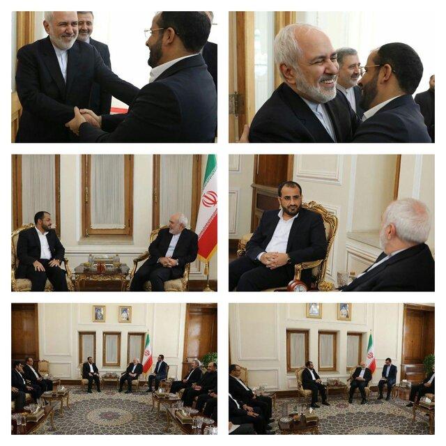 دیدار و گفتوگوی سخنگوی انصارالله یمن با ظریف