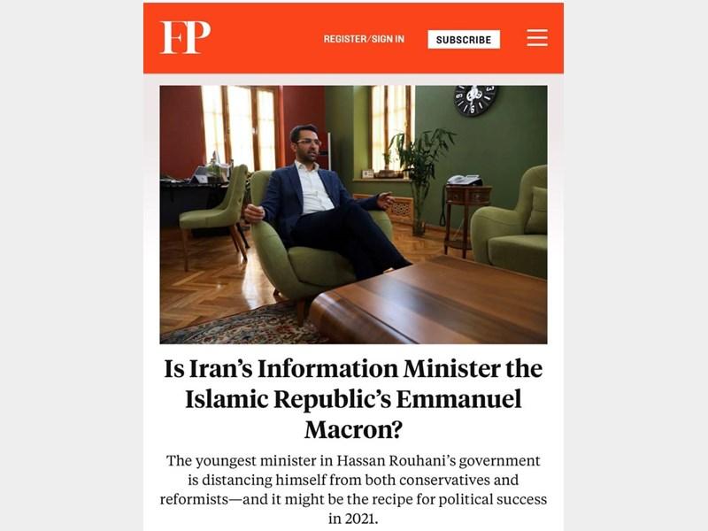 مطلب نشریه آمریکایی درباره وزیر ارتباطات