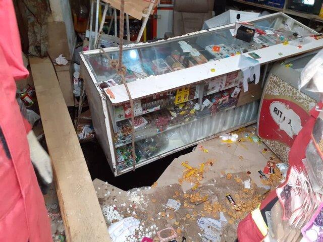 مرگ 2 کودک در پی ریزش کف سوپرمارکت در تهران (+عکس)