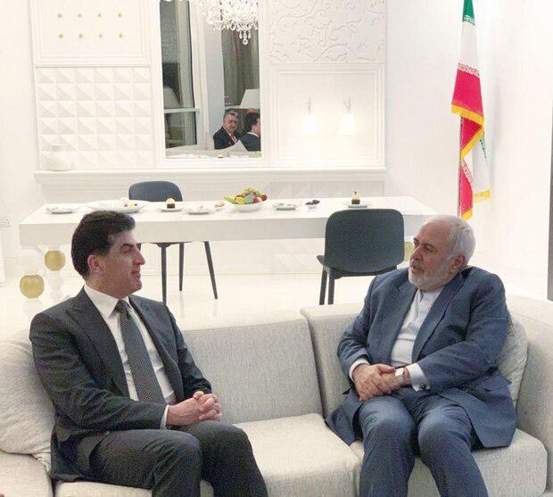 دیدار ظریف و  رئیس اقلیم کردستان عراق (عکس)