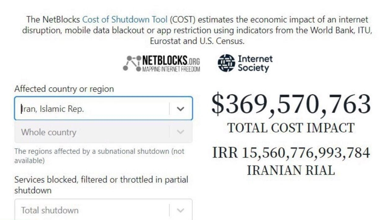 خسارت قطعی اینترنت در ایران: روزی 369 میلیون دلار/چه اصنافی خسارت دیدهاند