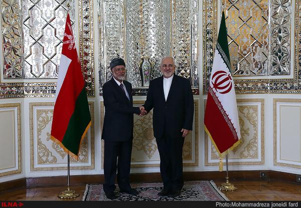 دیدار وزیر امورخارجه عمان با ظریف