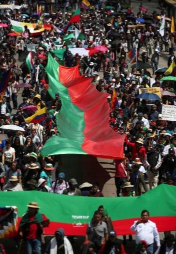 اعتراضات رقصان کلمبیا (+عکس)/ تجمع 40 هزار نفری در مرکز پایتخت